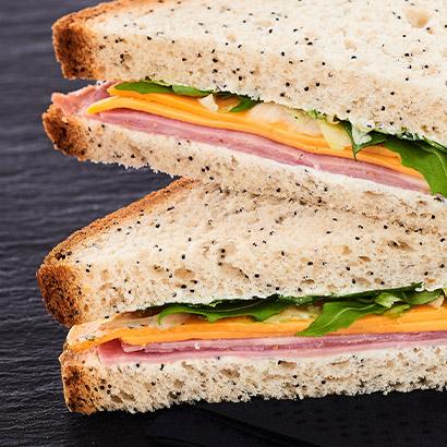 Sandwich gourmand Jambon cheddar