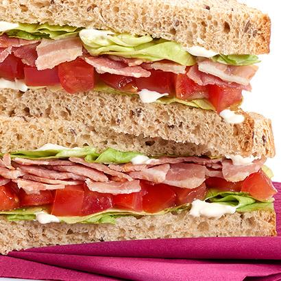 Sandwich gourmand Bacon crudités