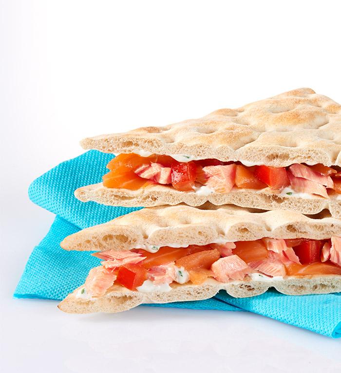 Sandwich club polaire saumon